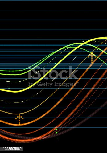 istock Financial Data Analysis Graph 1053505662