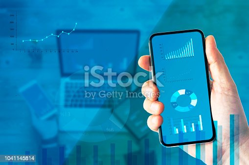 913603748 istock photo Financial Data Analysis Graph Showing Market Trends 1041145814