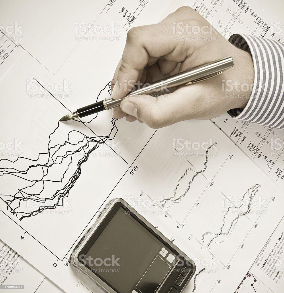 Financial data analysis royalty-free stock photo