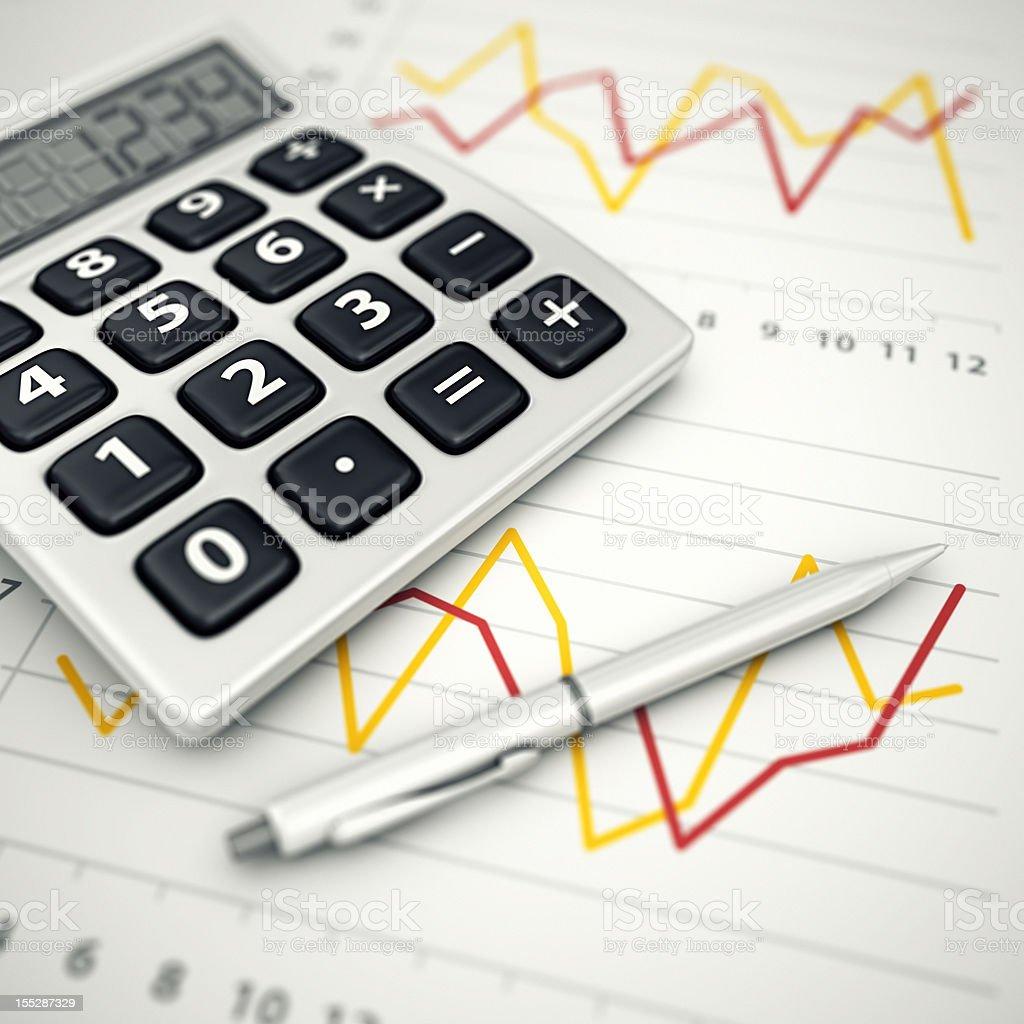 financial data analyzing royalty-free stock photo