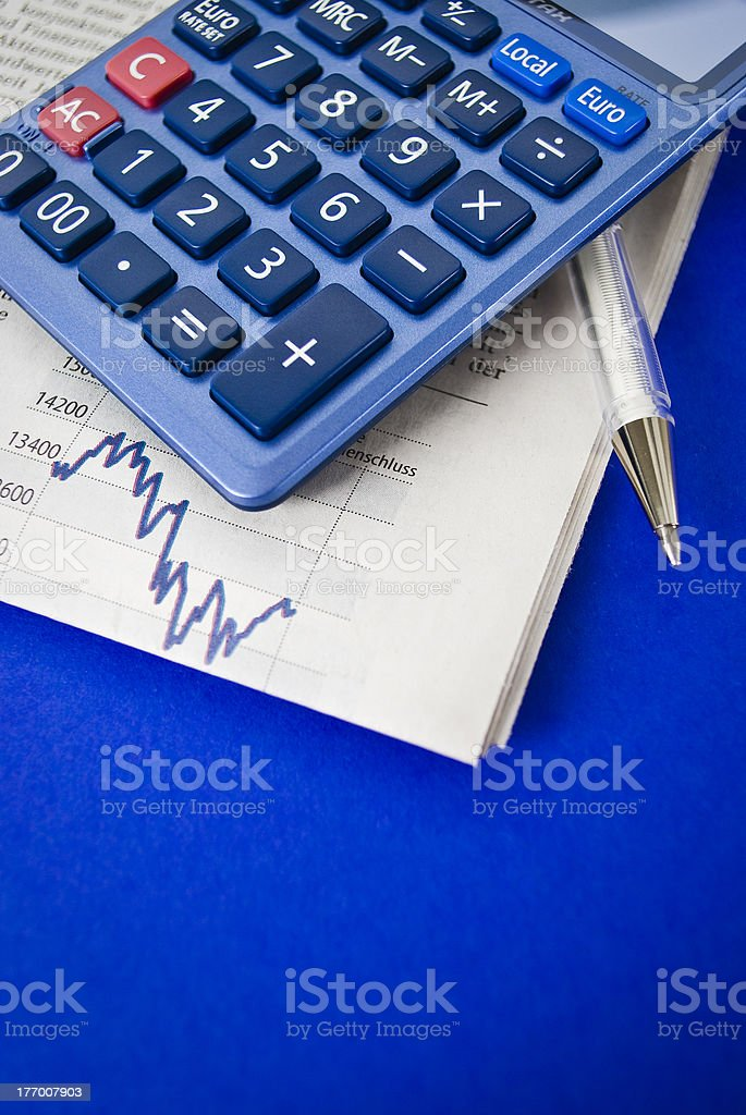 Financial data analyzing royalty-free stock photo