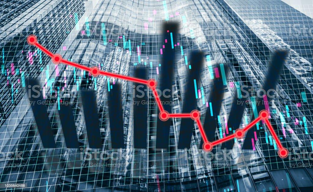 Finanzdaten - Baisse-trend – Foto