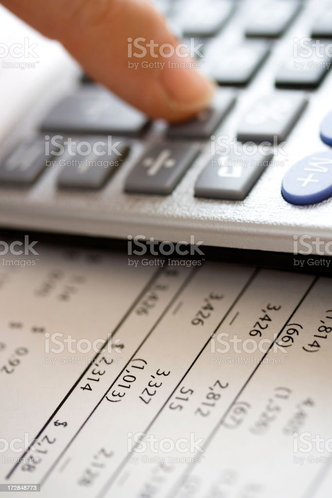 Financial data calculating royalty-free stock photo