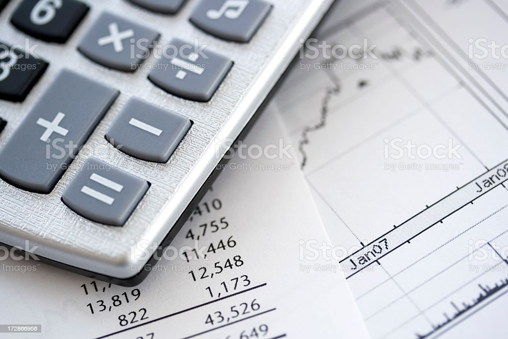 Financial data royalty-free stock photo