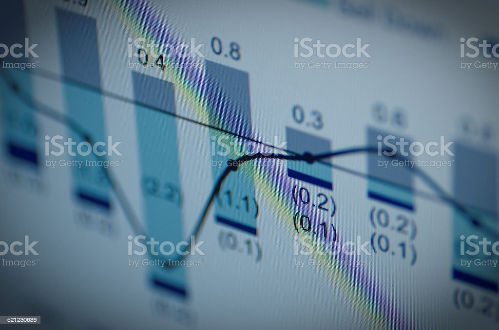 Datos financieros - foto de stock