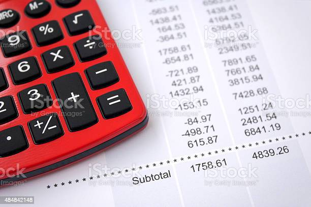 Financial Data Report Stock Photo - Download Image Now