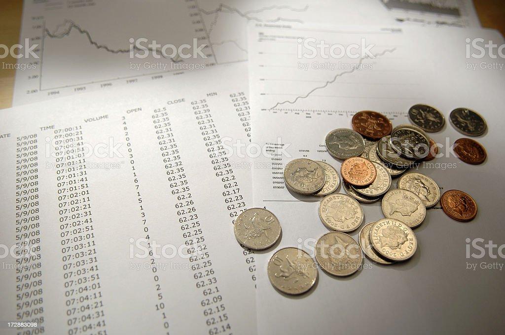 financial data series royalty-free stock photo