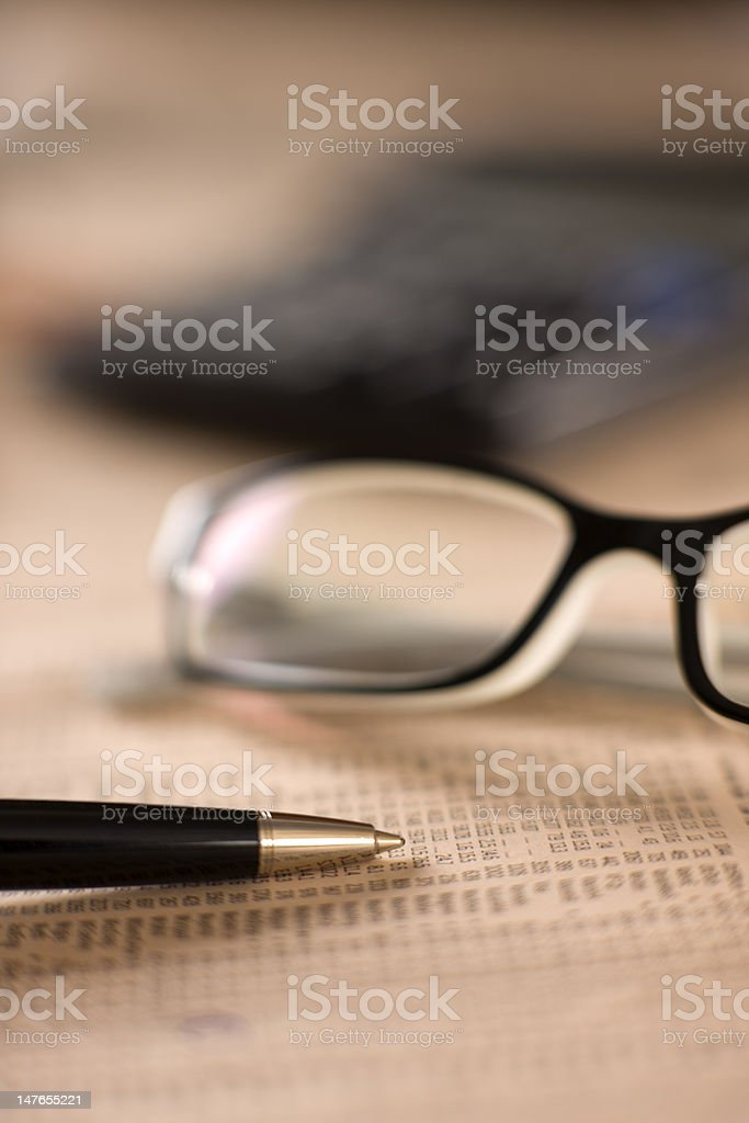 Financial decisions. royalty-free stock photo