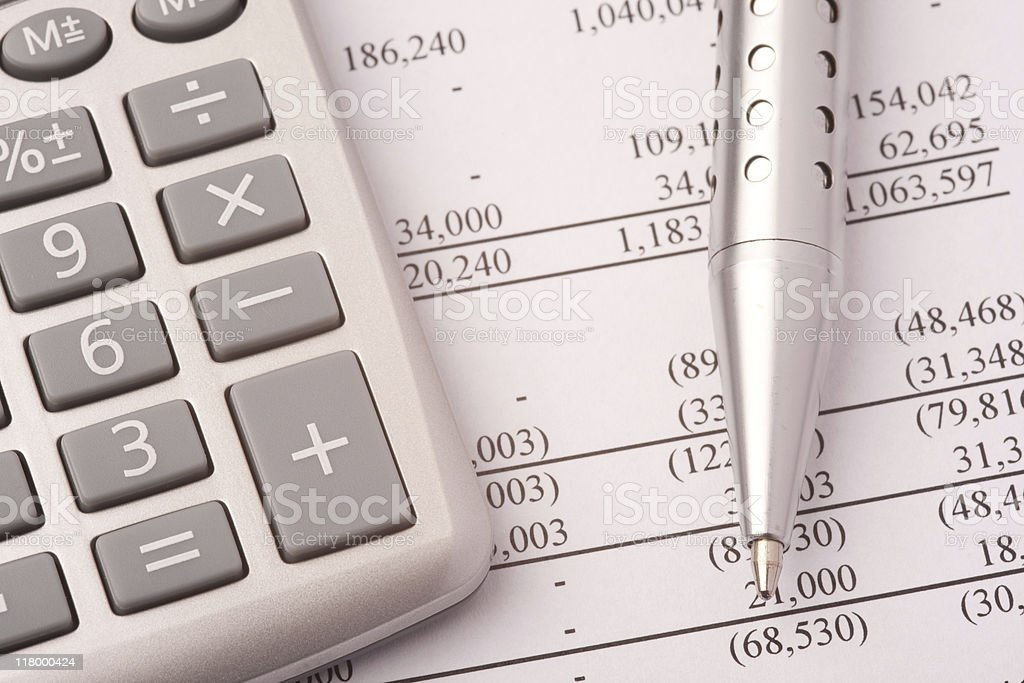 Financial Details Close-up royalty-free stock photo