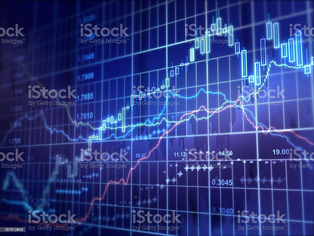 Financial Diagram royalty-free stock photo