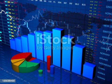 istock Financial diagram with chart 155099492