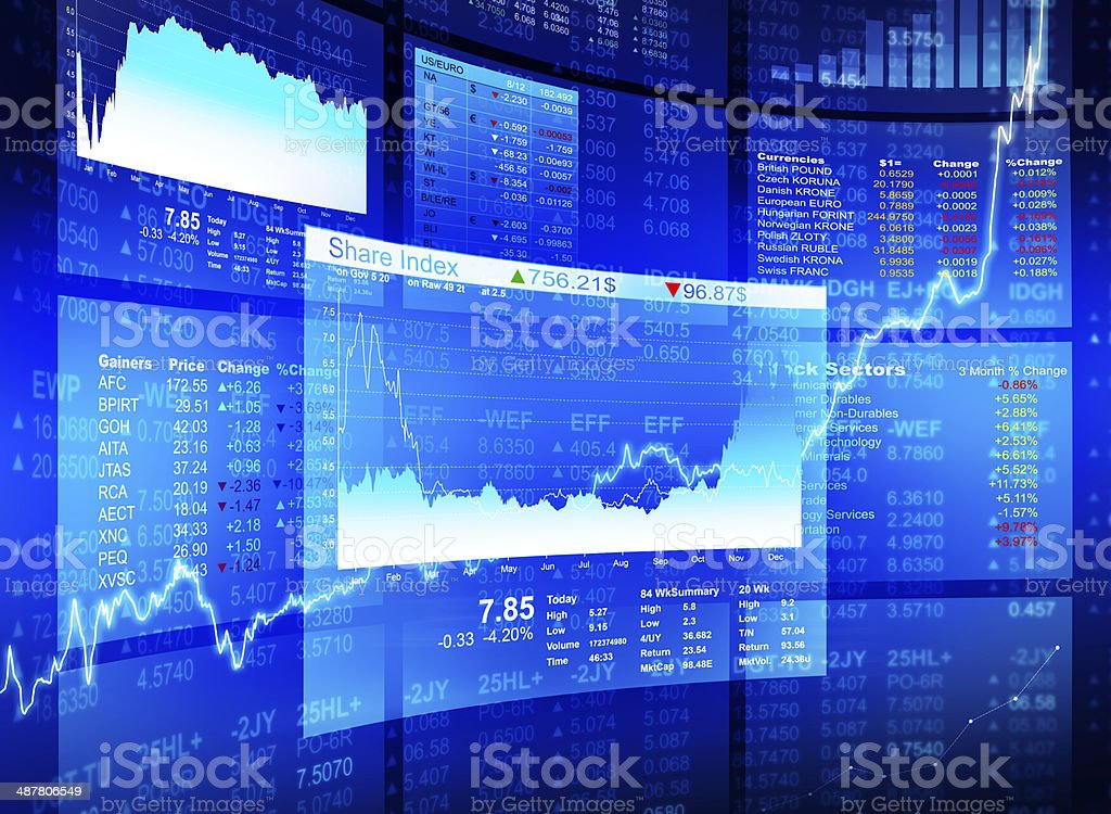 financial diagrams stock photo