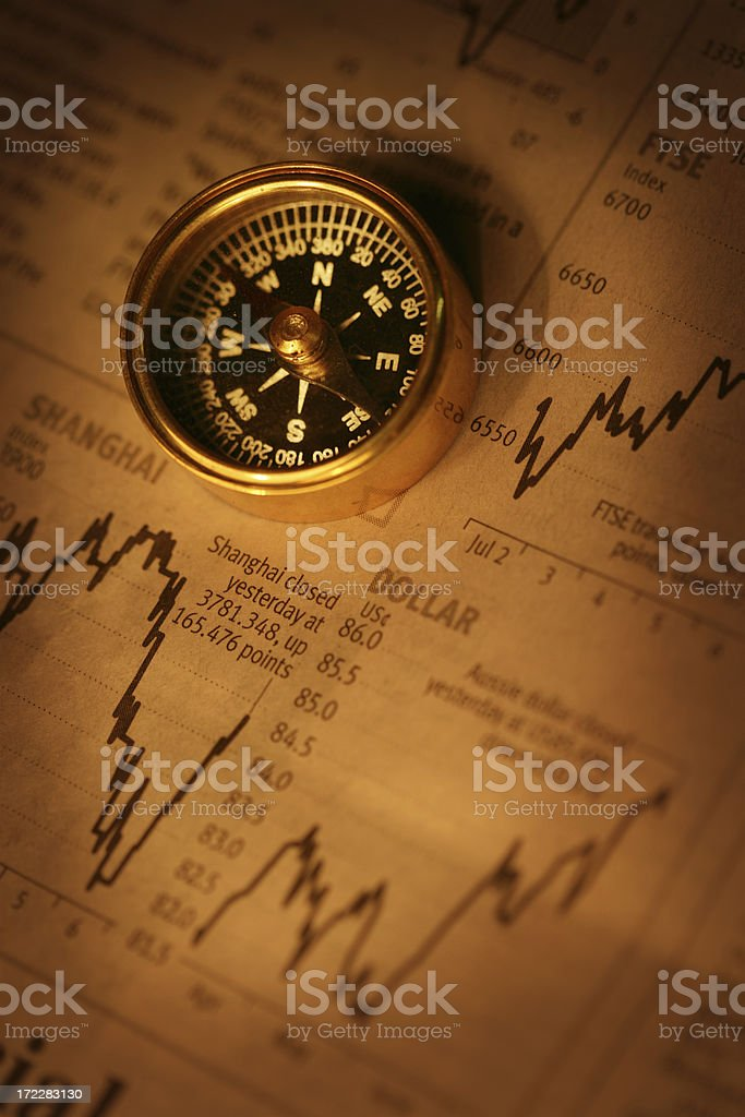 Financial Directions in Gold royalty-free stock photo