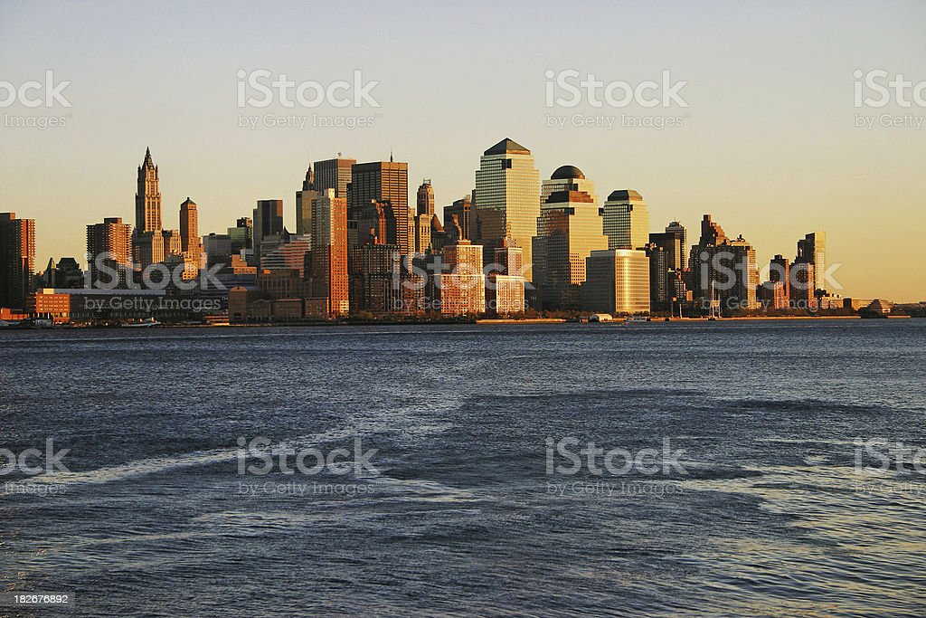 Financial District at Sunset royalty-free stock photo