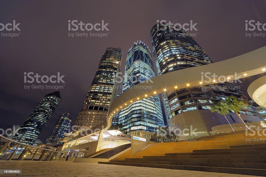 Financial District, Brisbane stock photo