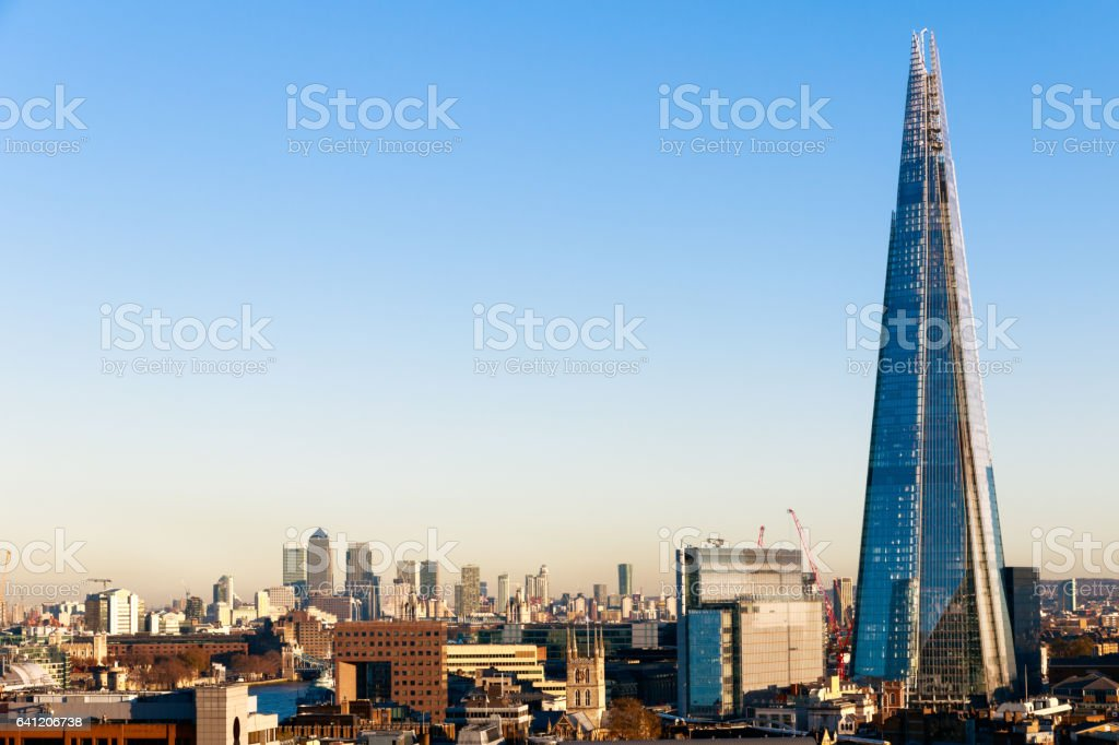 Financial District Cityscape of London stock photo