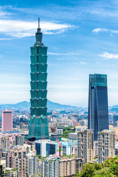 Finanzviertel in Stadt Taipei, Taiwan – Foto