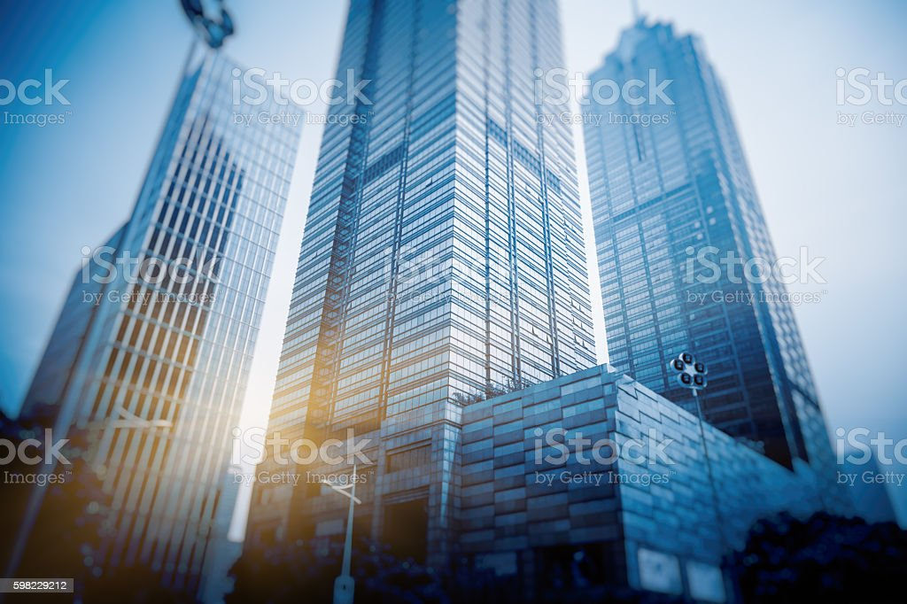 financial district in shanghai foto royalty-free