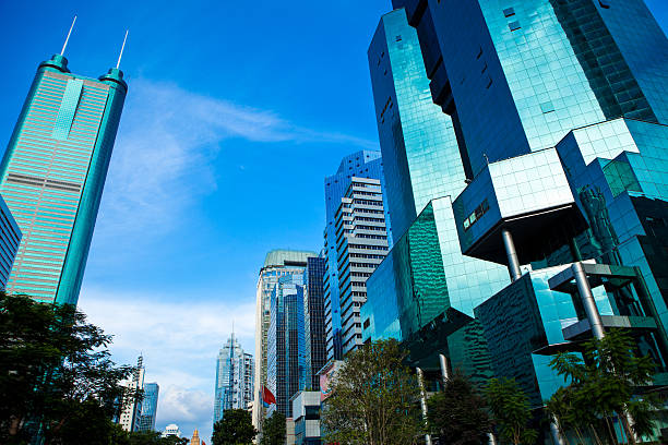 Financial District in Shenzhen, China stock photo