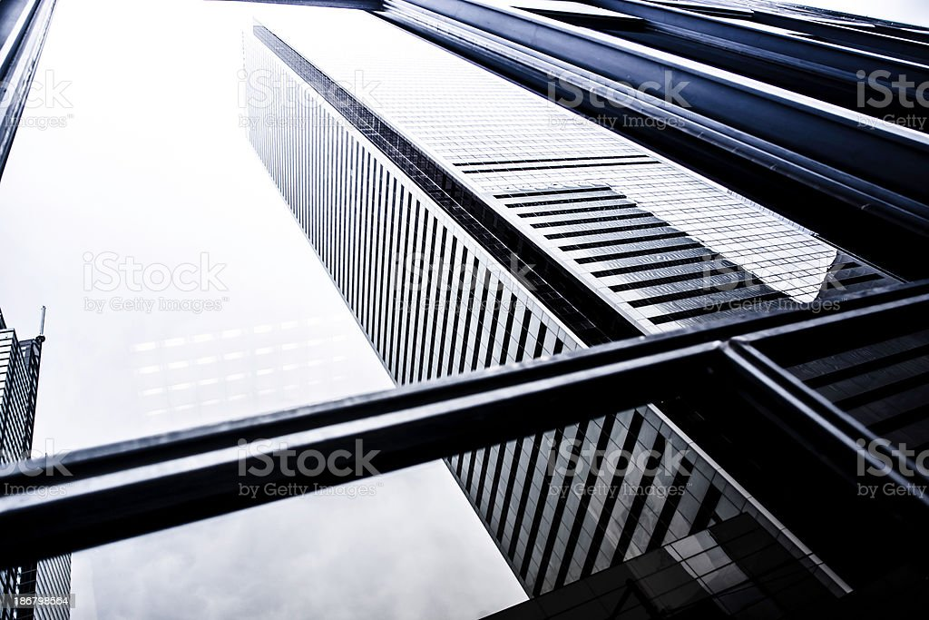 Financial district in Toronto,Canada royalty-free stock photo