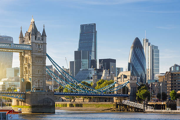 Financial District of London and the Tower Bridge Financial District of London and the Tower Bridge london england stock pictures, royalty-free photos & images