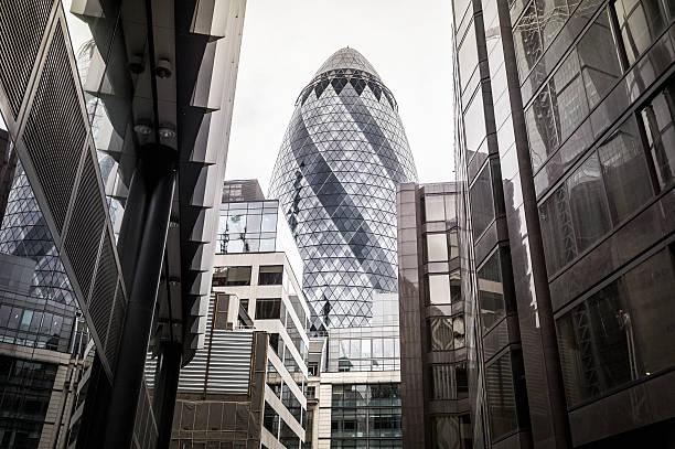 Financial district of London City – Foto