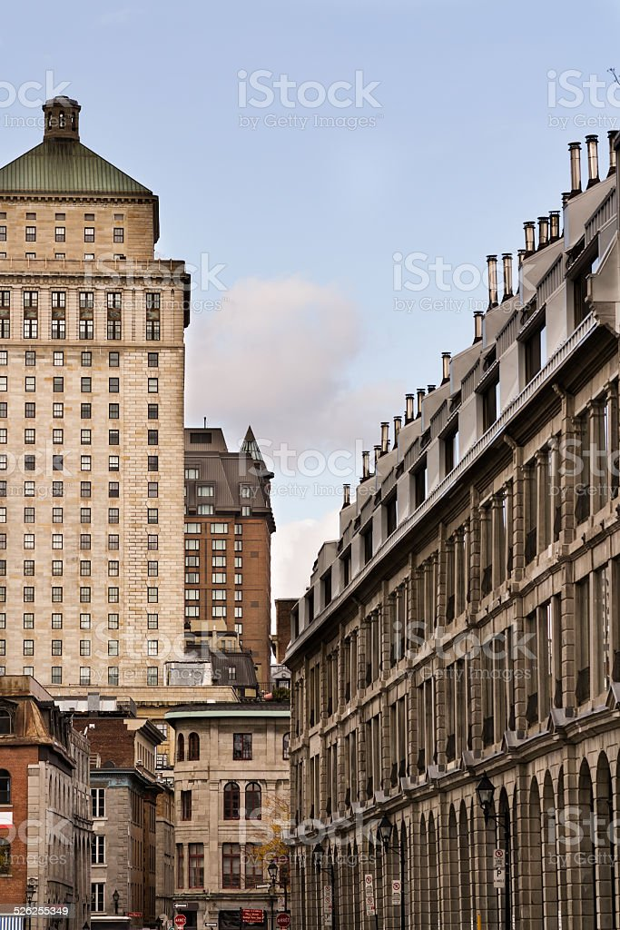 Financial district of Montreal stock photo