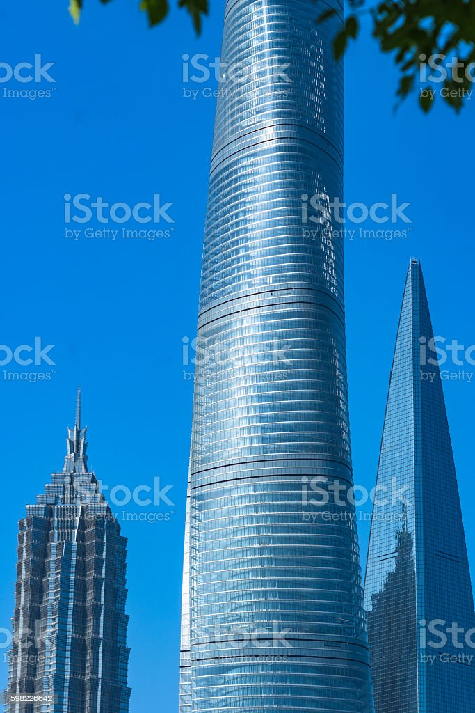 financial district of shanghai foto royalty-free