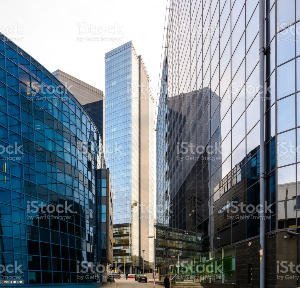financial district of the city royalty-free stock photo