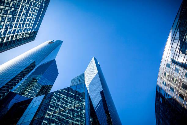 financial district, paris, france stock photo