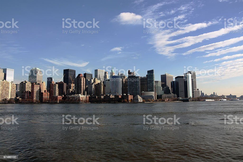 NYC Financial District royalty-free stock photo