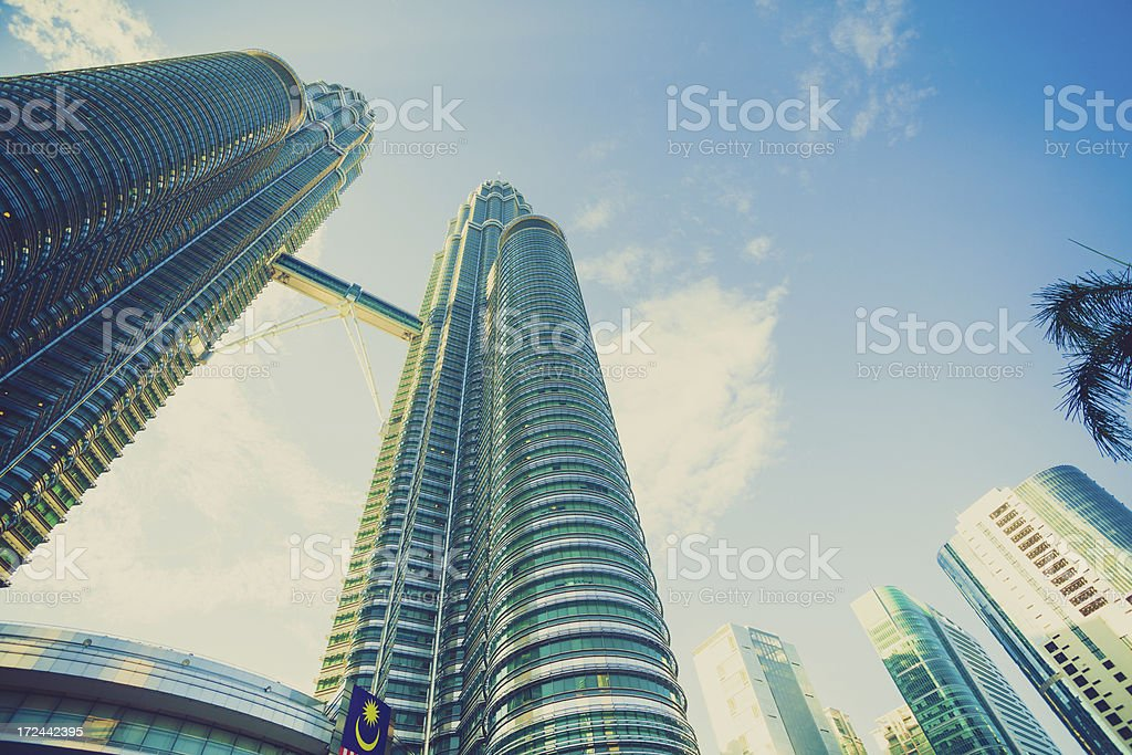 Financial District Skyscrapers in Kuala Lumpur royalty-free stock photo