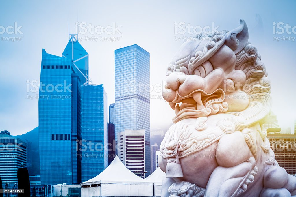 financial district,hong kong stock photo