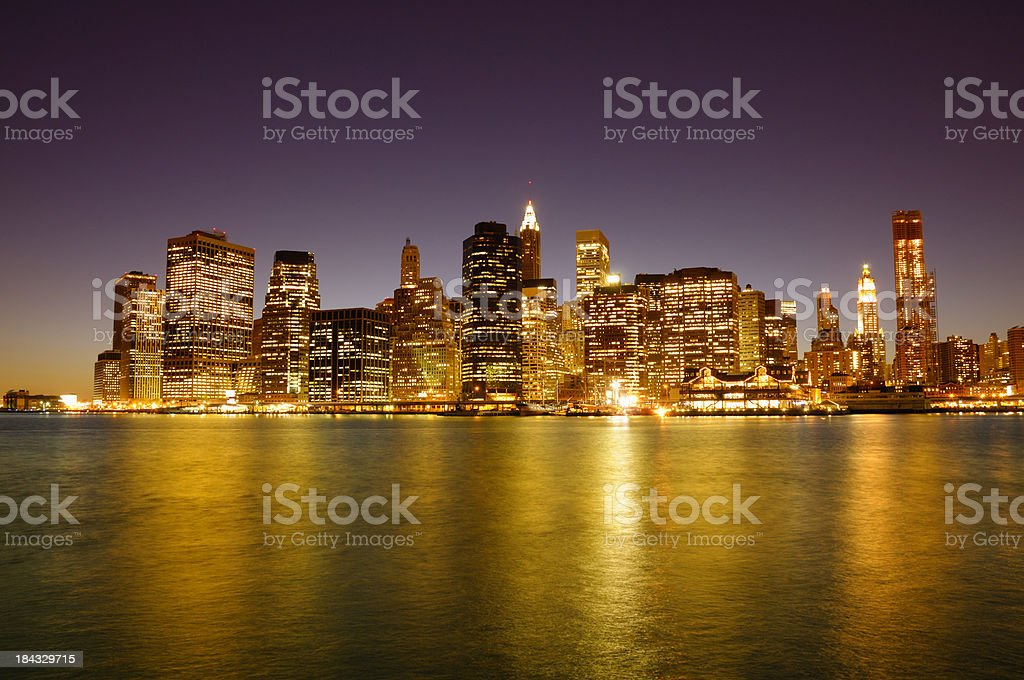 Financial District,NYC,at Sunset. royalty-free stock photo