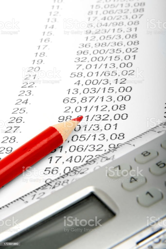 Financial document royalty-free stock photo