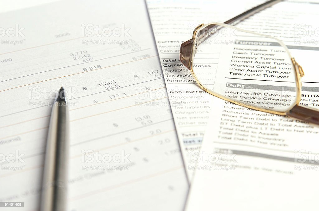 Financial documents royalty-free stock photo
