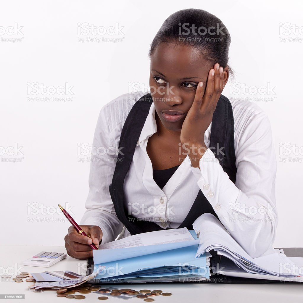 Financial drudgery royalty-free stock photo