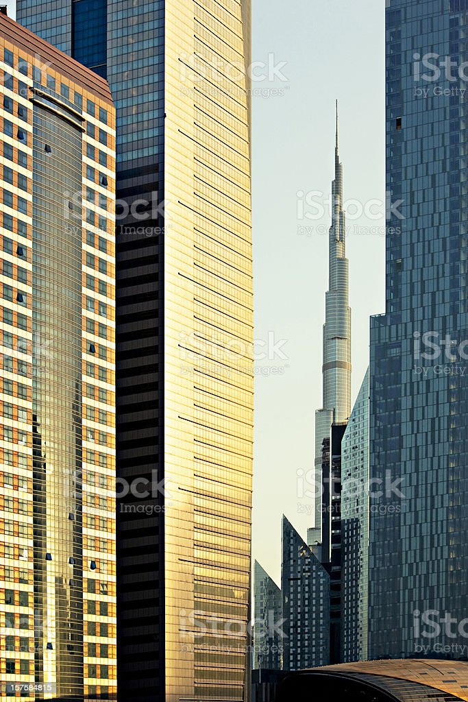 Financial Dubai royalty-free stock photo