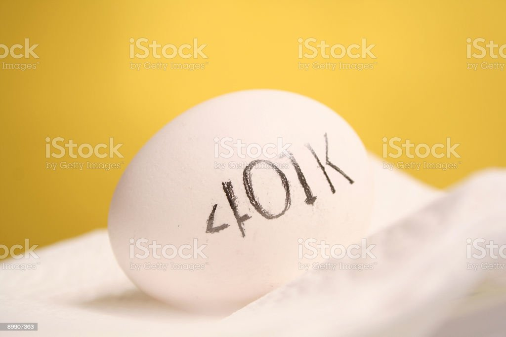 Financial Egg royalty free stockfoto