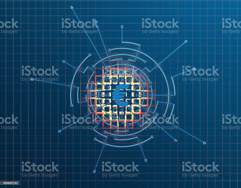 Financial Electronic Technology Circuit Boards And Euro Stock Photo Schematic Photos Royalty Free