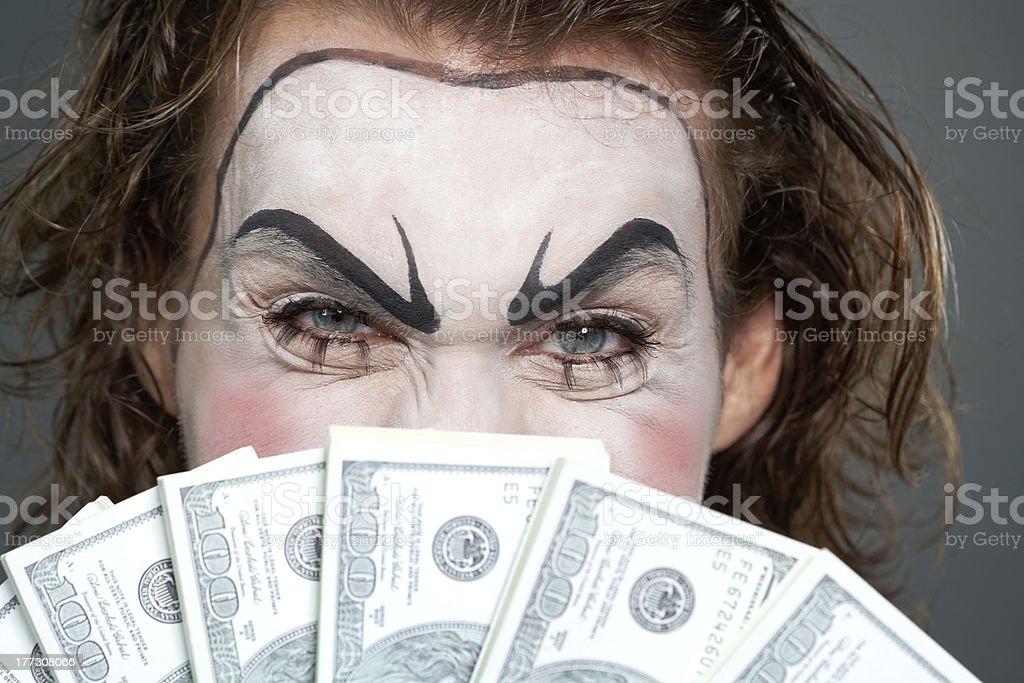 Financial evil royalty-free stock photo