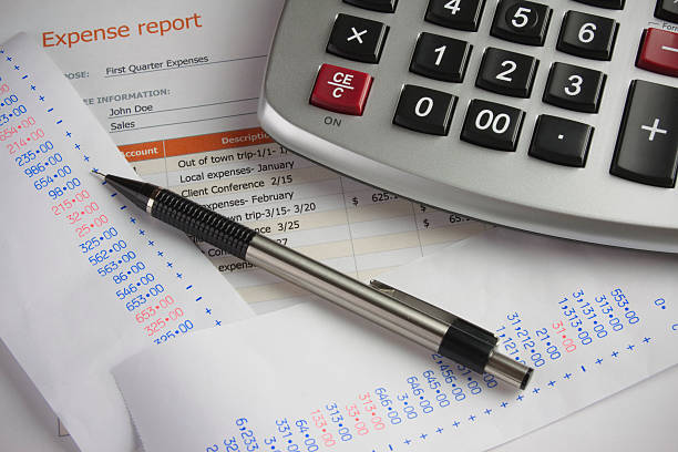 Financial Expense Report stock photo
