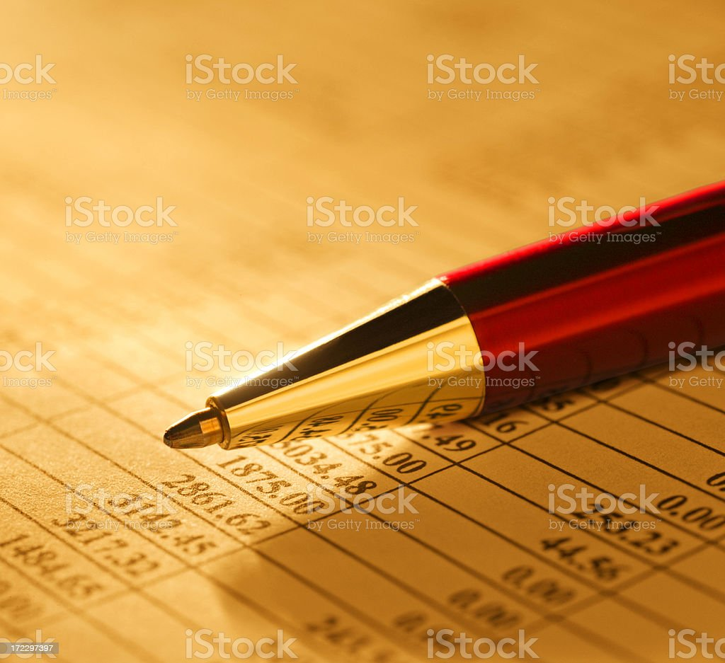 Financial Figures Close Up royalty-free stock photo