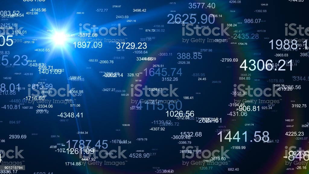 Financial Figures Data Analyzing stock photo