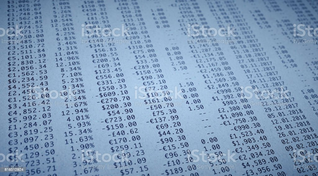 Financial Figures Paper stock photo
