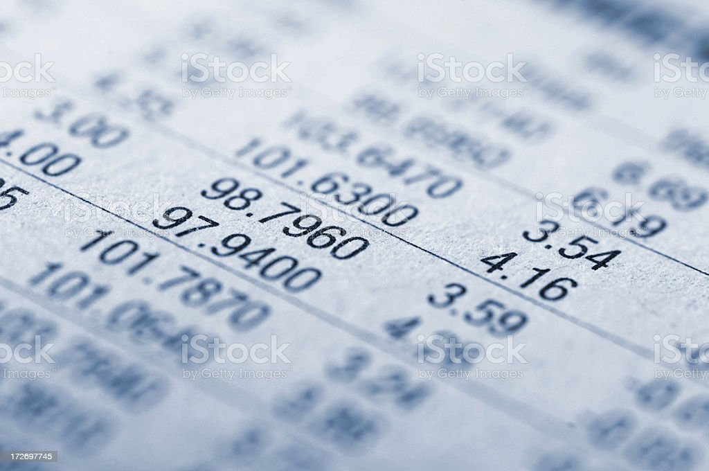 financial figures series royalty-free stock photo