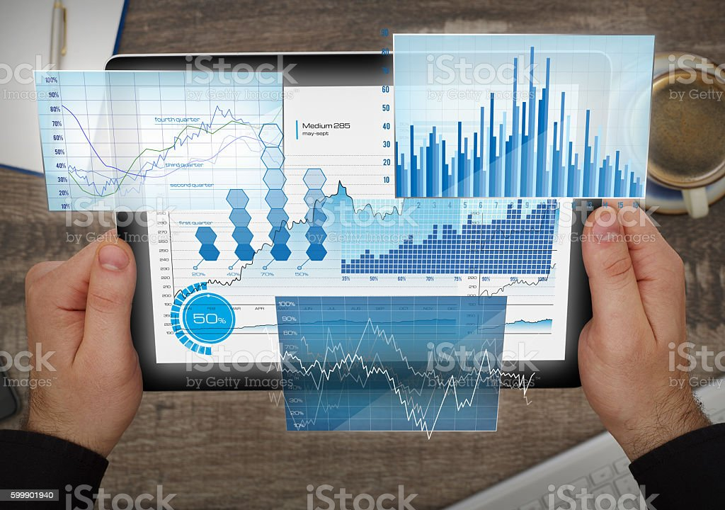 Financial future analyzing - foto stock