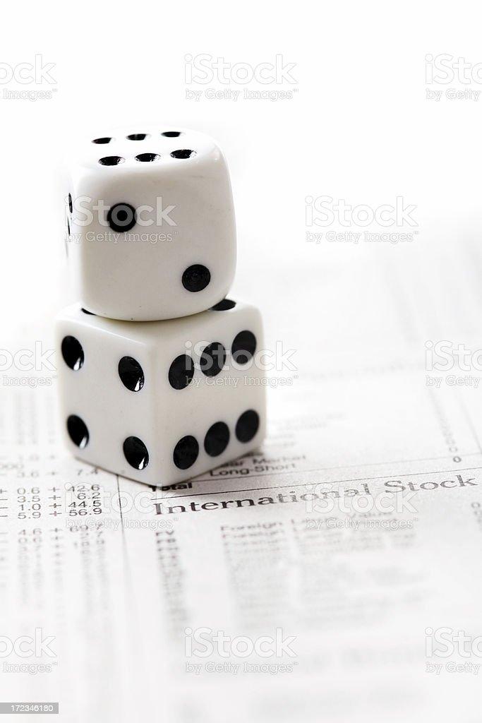 Financial gamble royalty-free stock photo