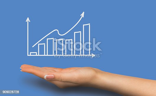 istock Financial graph conceptual background 909028728