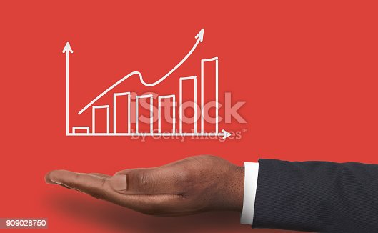 istock Financial graph conceptual background 909028750